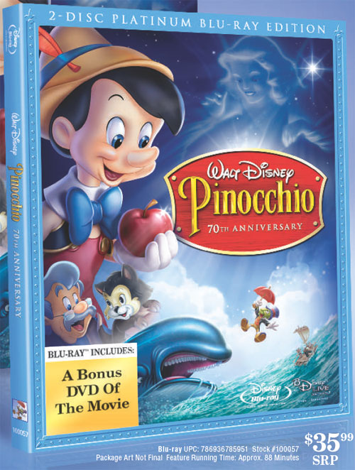 Pinocchio Blu-ray 411 Details and First Look Cover Art ... Pinocchio 70th Anniversary Edition Dvd