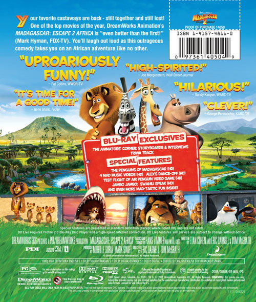 Warriors Vs Knights Live Stream Free: Madagascar: Escape 2 Africa Blu-ray Specs And Cover Art