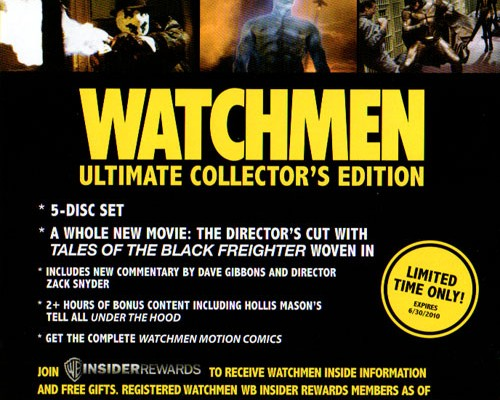 First Watchmen Ultimate Collector's Edition Blu-ray Details
