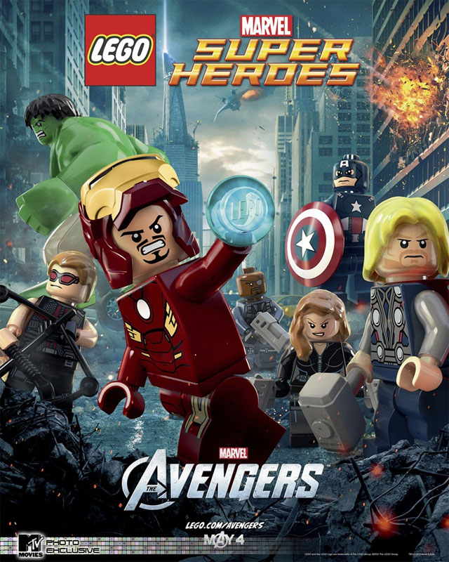 Lego Batman 2 Box Art and Marvel Avengers Lego Poster Revealed