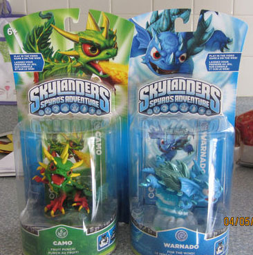 Skylanders Camo and Warnado Found in Stores