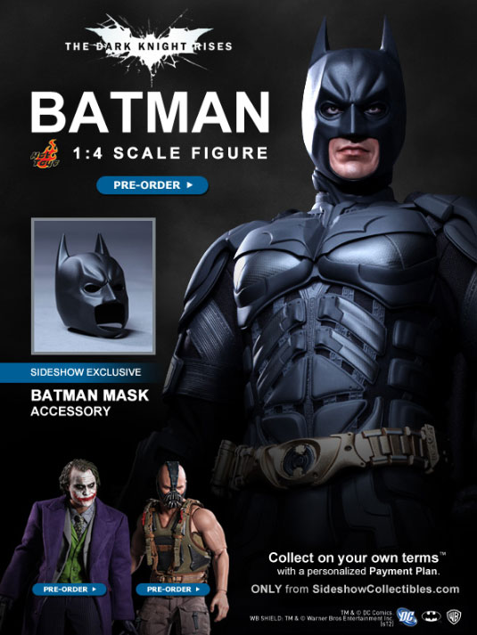 Hot Toys Batman The Dark Knight Rises 1:4 Exclusive Figure Pre-Order is Live - TheHDRoom