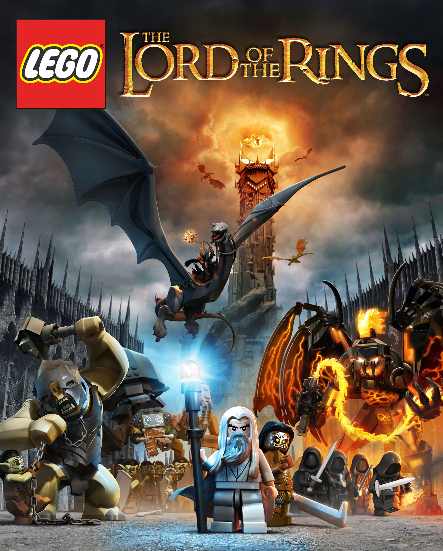 LEGO Lord of the Rings Monsters and Villains Poster Attacks