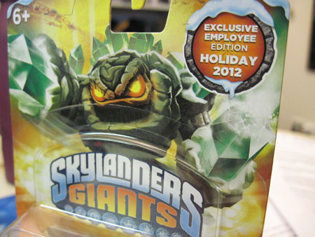 Skylanders Giants Exclusive Employee Edition Prism Break is Silver and Gold