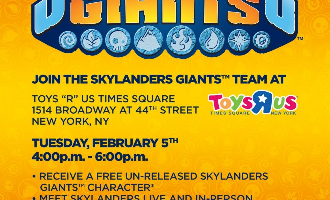 Skylanders Giants Ninjini NYC Toys R Us Promotion to Celebrate Toy Fair 2013 (Updated)