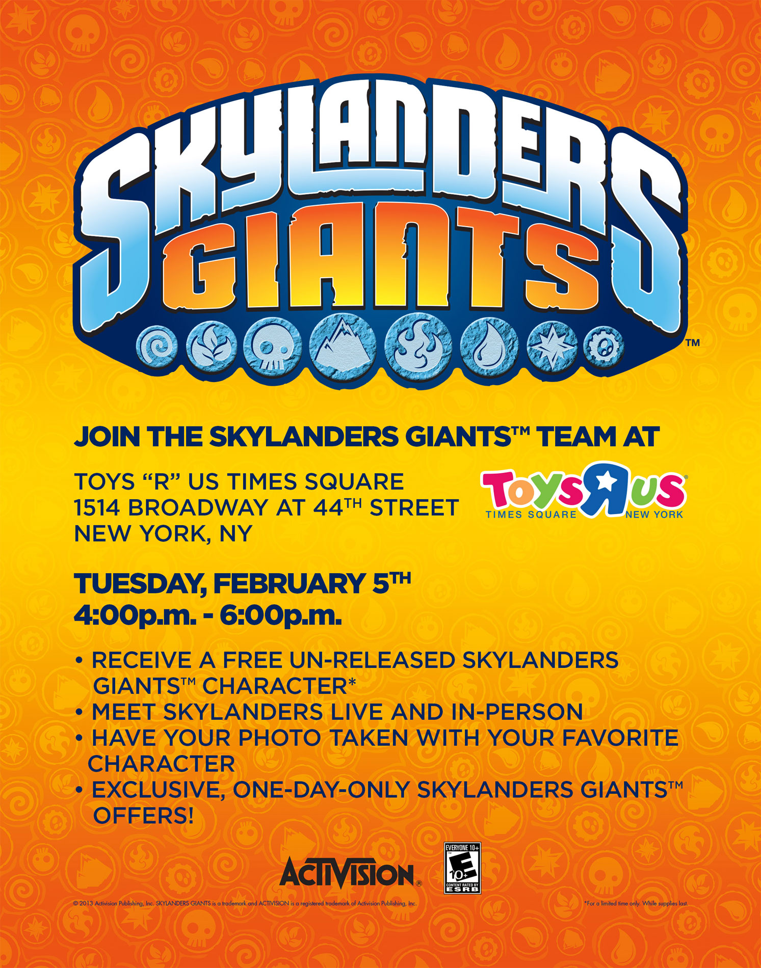 Skylanders Giants Ninjini NYC Toys R Us Promotion to Celebrate Toy Fair 2013
