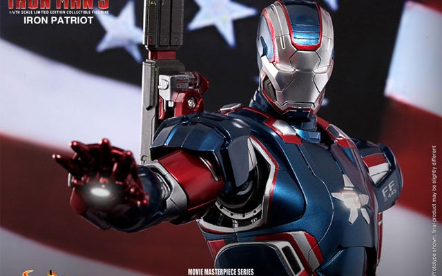 Hot Toys Iron Patriot Iron Man 3 Diecast Figure Up for Pre-Order