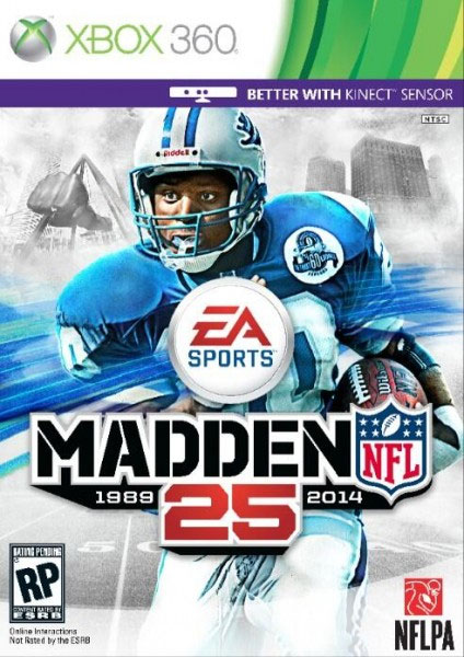 Barry Sanders Beats Adrian Peterson for Madden NFL 25 Cover