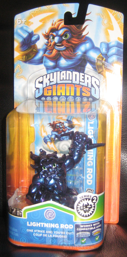 Skylanders Giants Rare Metallic Purple Lightning Rod Surfaces