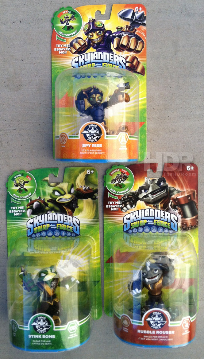 Skylanders Swap Force Wave 3 Found: Stink Bomb, Rubble Rouser and Spy Rise