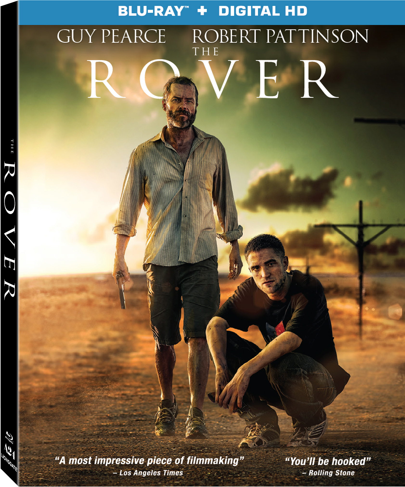 The Rover Starring Robert Pattinson And Guy Pierce Blu-ray