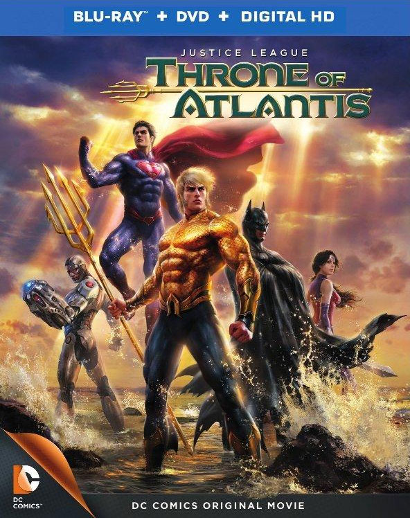 Justice League Throne of Atlantis Blu-ray cover art