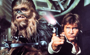 Star Wars: Episode VII - The Force Awakens Han Solo and Chewbacca