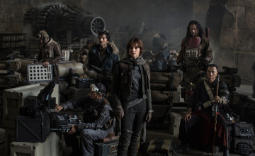Closer Look at Star Wars Rogue One Cast Photo