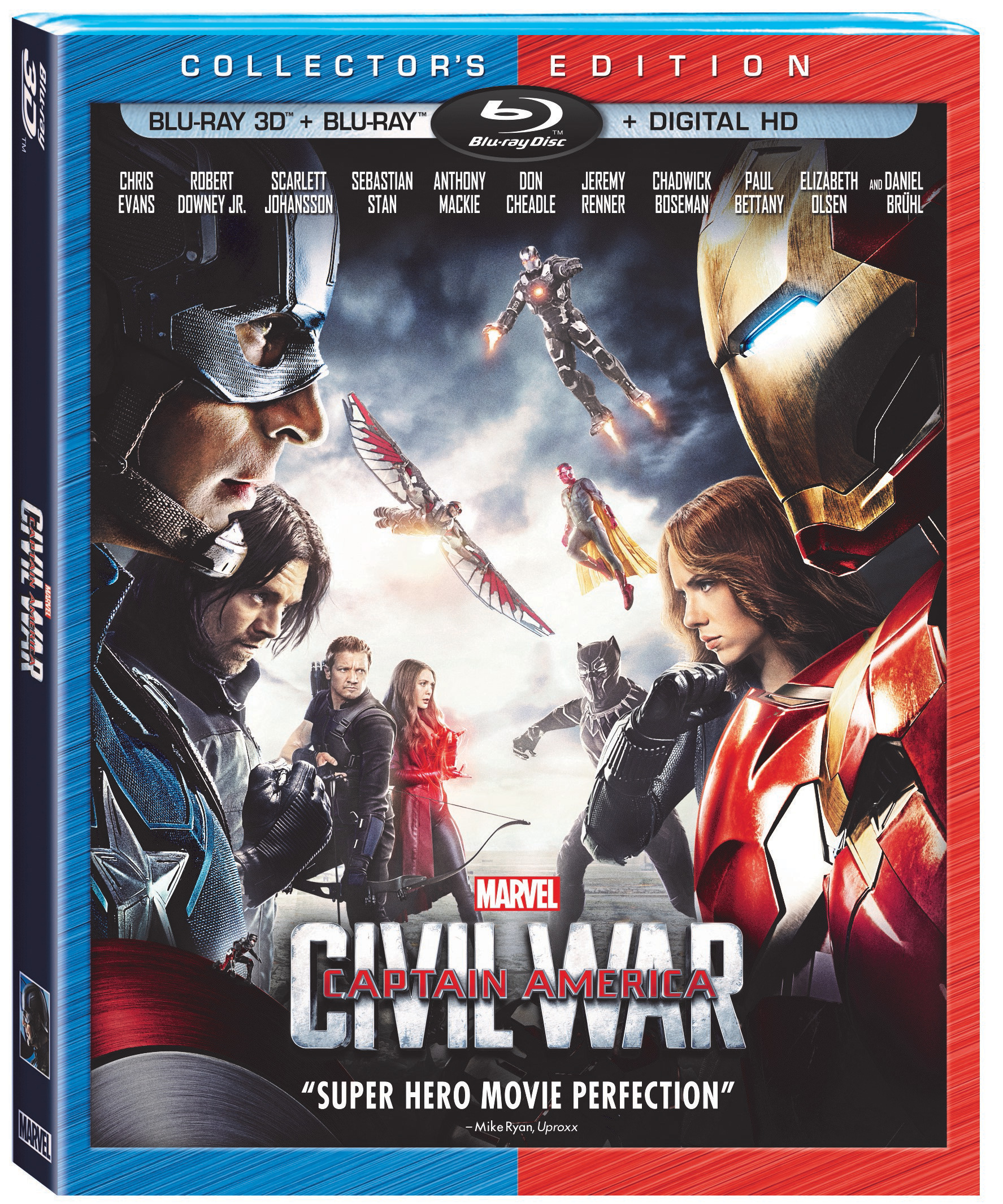 captain america civil war blu ray 3d blu ray dvd and digital release date and details thehdroom. Black Bedroom Furniture Sets. Home Design Ideas