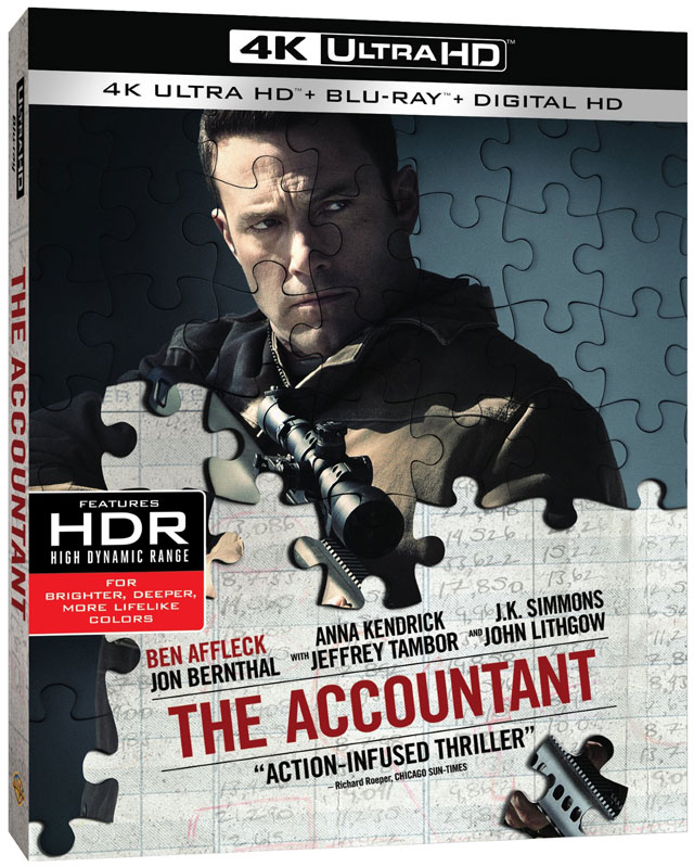 The Accountant 4K Blu-ray cover art
