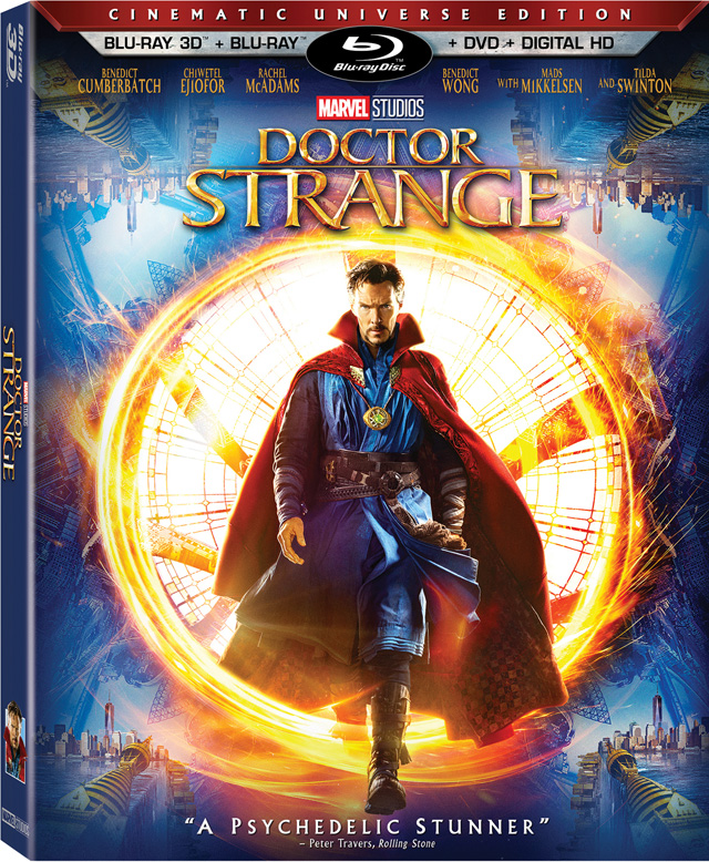 Doctor Strange Blu-ray 3D Cover Art