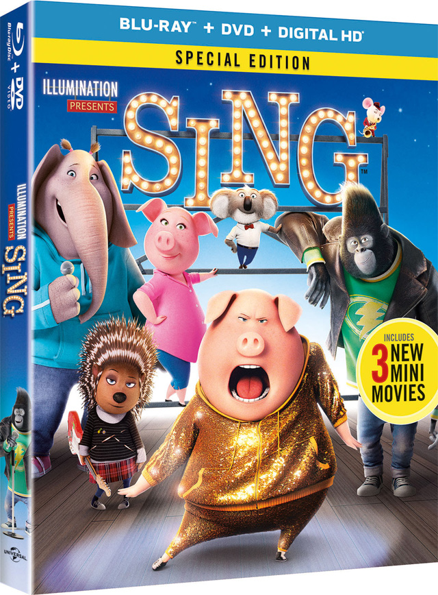 Sing Blu-ray cover art