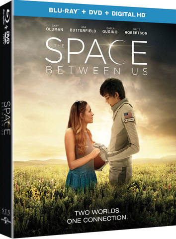 The Space Between Us Blu-ray Cover Art
