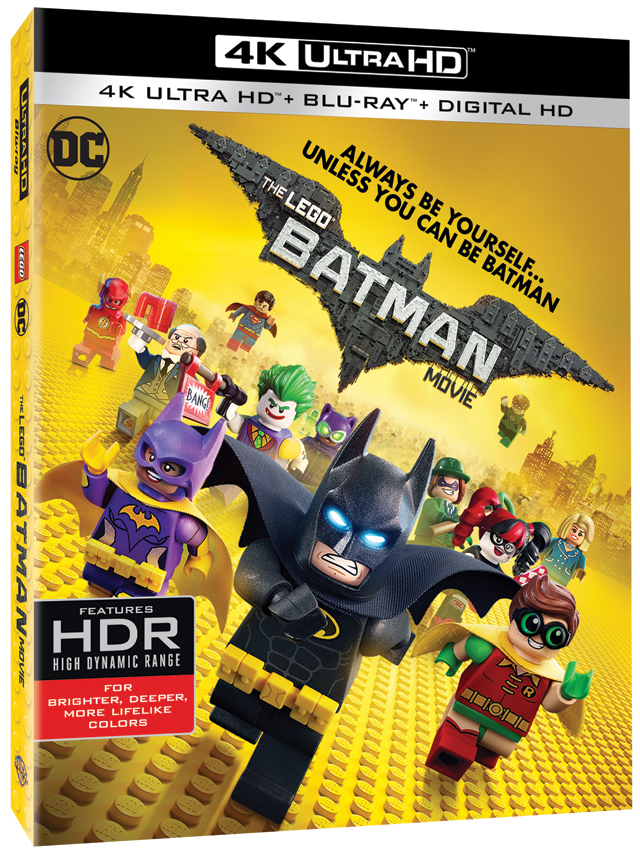 The LEGO Batman Movie 4K Blu-ray cover art
