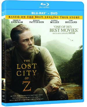 The Lost City of Z Blu-ray cover art