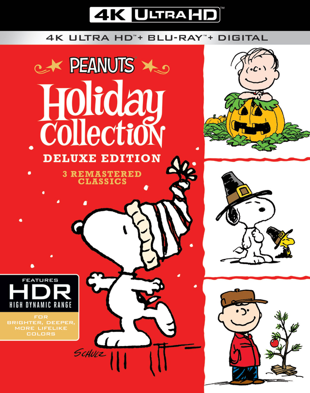 Peanuts Holiday Collection 4K Blu-ray Cover Art