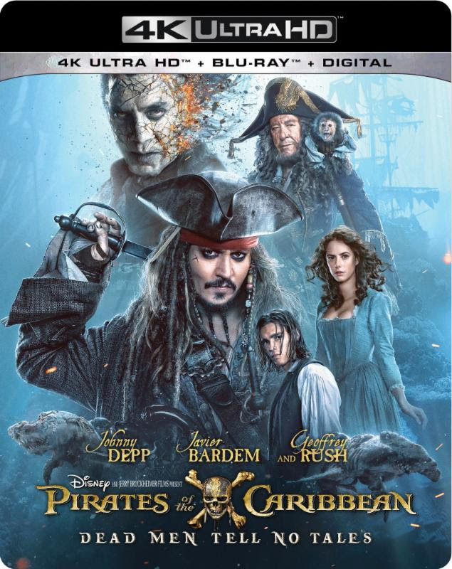 Pirates of the Caribbean: Dead Men Tell No Tales 4K Cover Art