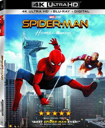 Spider-Man: Homecoming 4K Blu-ray cover art
