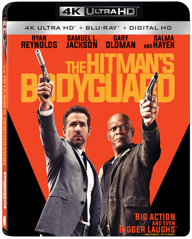 The Hitman's Bodyguard 4K Blu-ray cover art