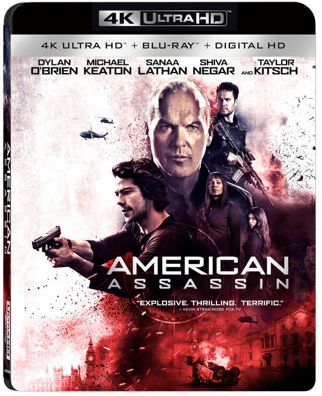 American Assassin 4K Blu-ray cover art