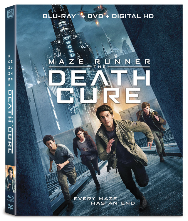 Maze Runner: The Death Cure Blu-ray cover art