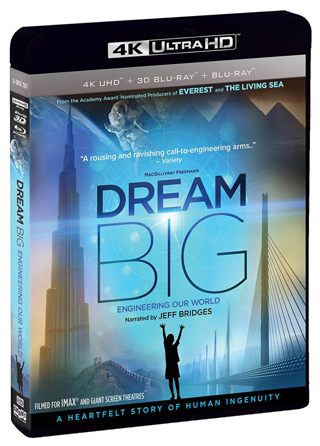 Dream Big 4K UHD Blu-ray cover art