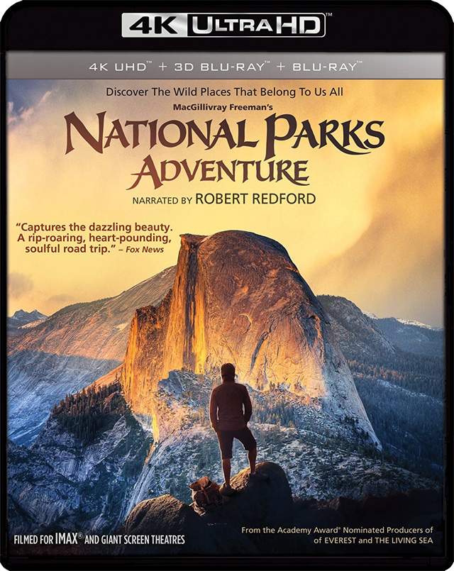 National Parks Adventure 4K UHD Blu-ray cover art